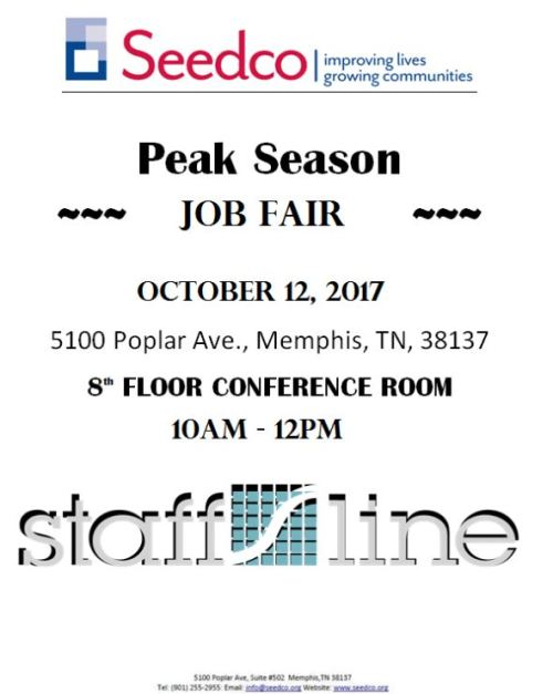Comments Off on Staff Line Job Fair October 12 at Seedco