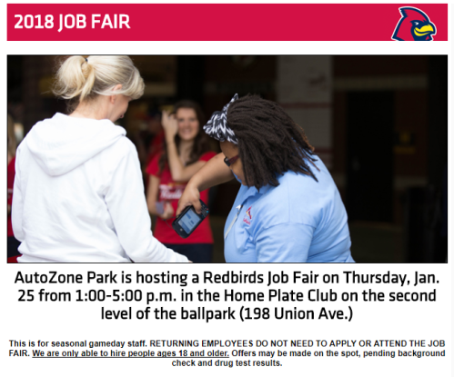 redbirds job fair