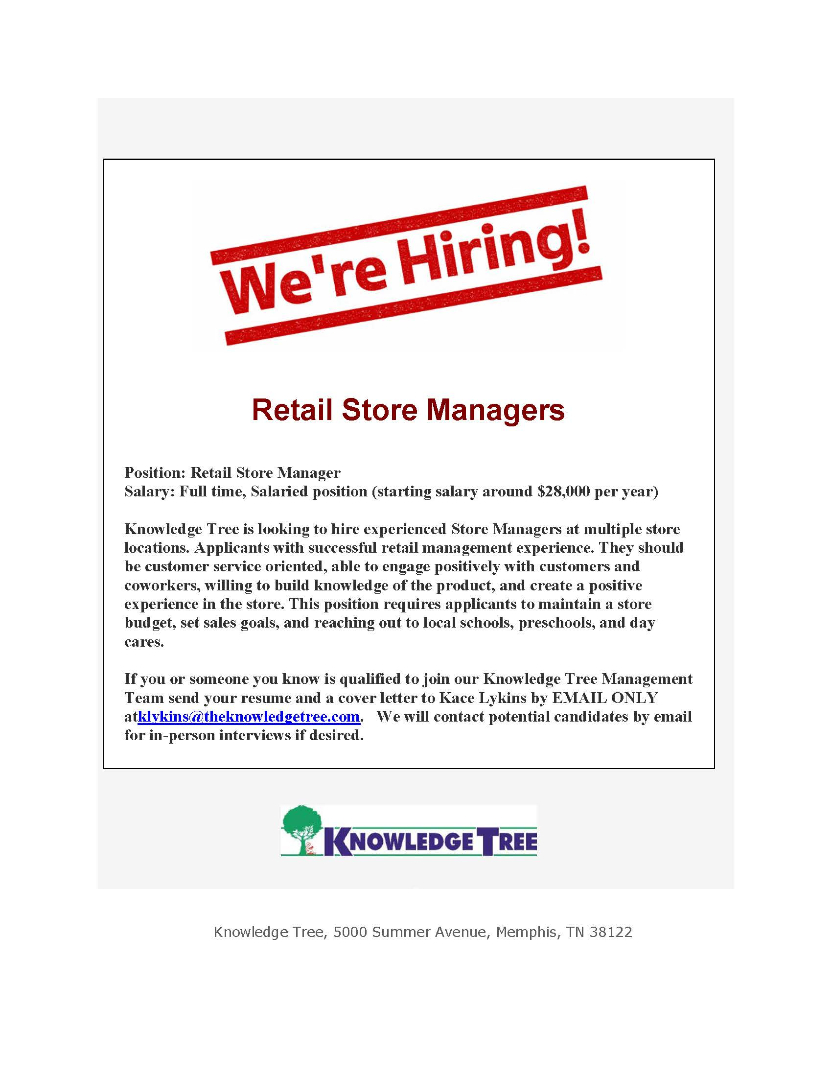 Retail Store Managers Knowledge Tree_Page_1