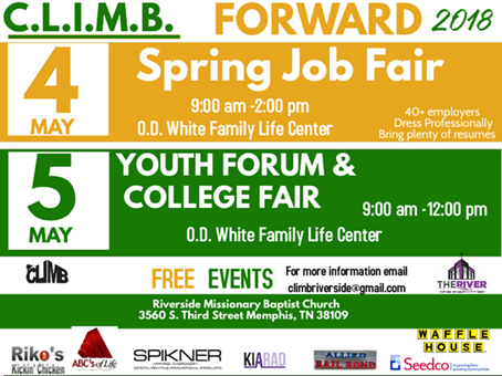 CLIMB Job Fair May 2018