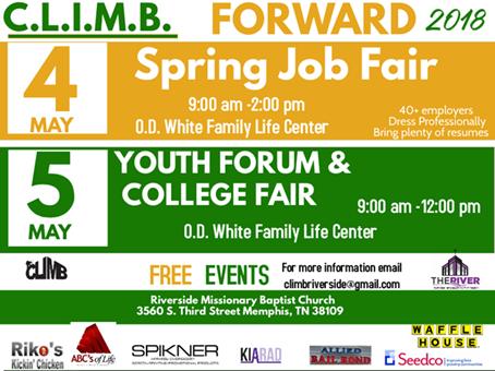 CLIMB Job Fair May 2018