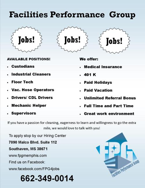 fpg jobs jobs jobs front only