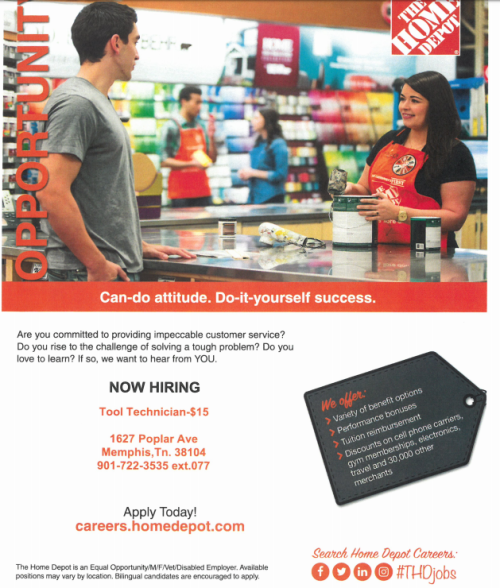 Home Depot Job Opportunities Job Career News From The Memphis