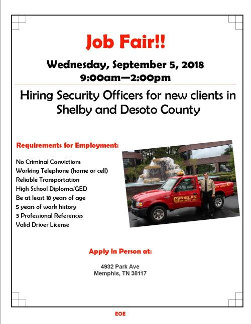 Job Fair Flyer 9.5.18