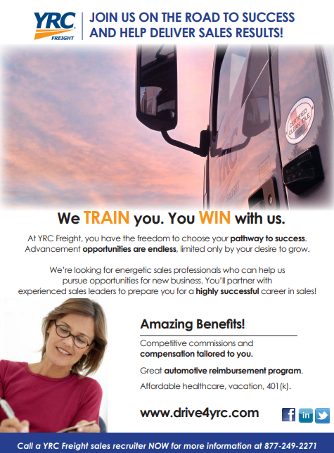 YRC Freight Sales Professionals | Job & Career News from the Memphis