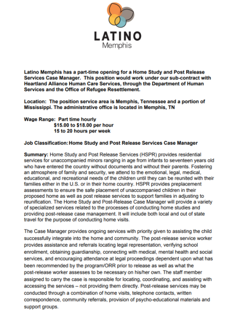 Bilingual Job opening at Latino Memphis | Job & Career News