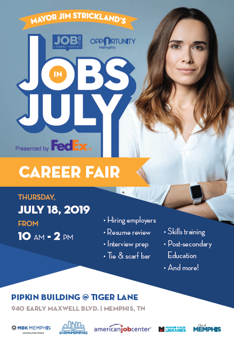 Jobs in July 2019 Career Fair