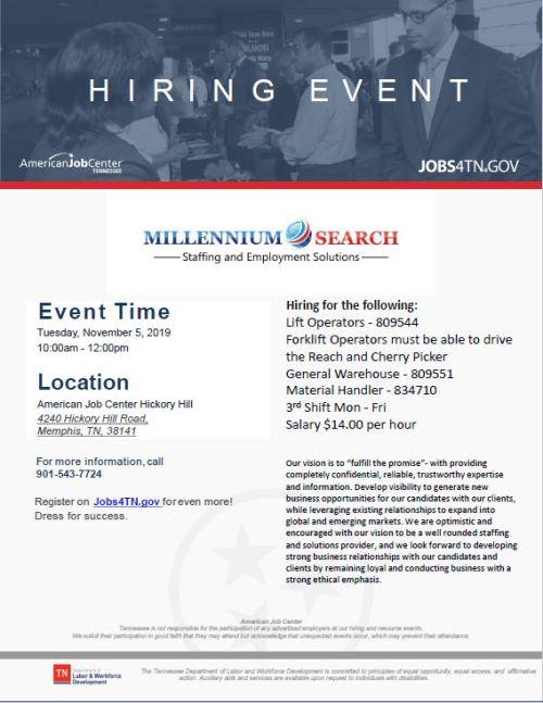 hiring event